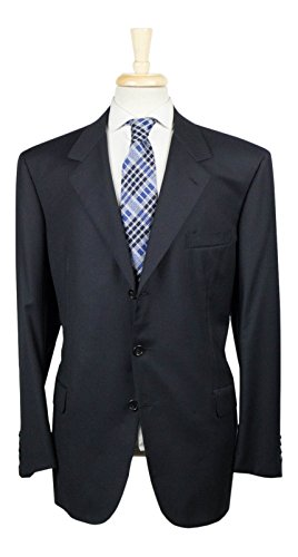 Brioni Wool Suit (BRIONI Palatino Navy Blue Striped Wool 3 Roll 2 Button Suit 58/48 R)
