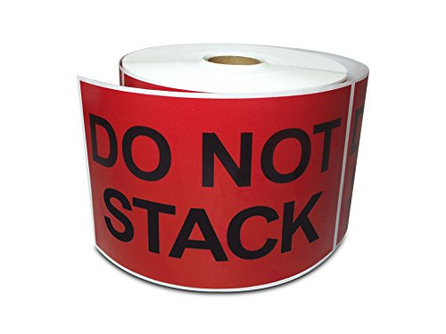 "3"" x 5"" Do Not Stack, Preprinted Shipping Instruction Message Labels (1 Roll, 500 Stickers/Roll)"