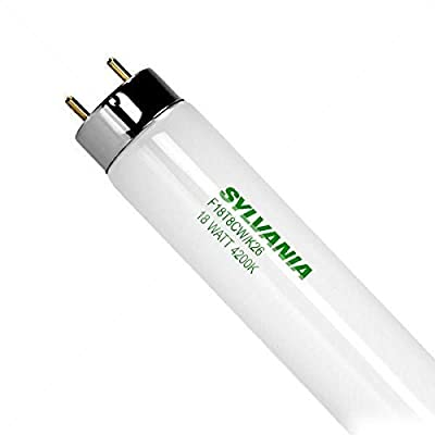 SYLVANIA 23027 - F18T8CW/K26 - 26 in. - 18 Watt Fluorescent Tube - T8 - Appliance Bulb - 4200K