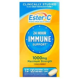Ester-C Vitamin C 1000 mg Coated Tablets (Pack of 120), Vitamin C Supplement, for Immune System…