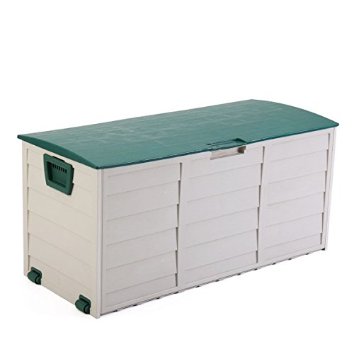 JAXPETY Garden Storage Tool Box Outdoor Shed Patio Deck Furniture Yard Container Utility by JAXPETY
