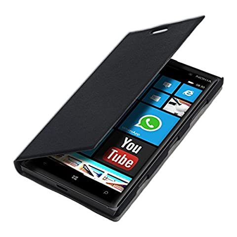 kwmobile Practical and chic FLIP COVER case for Nokia Lumia 830 in black (Hard Case For Nokia Lumia 830)