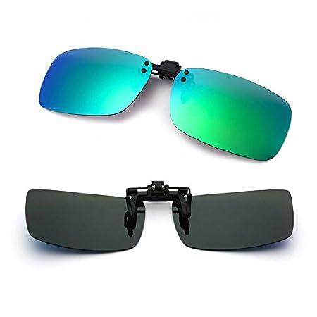 Azul para conducci/ón // pesca // esqu/í // deporte Protecci/ón uv Hombres y mujeres Anti reflejante Unisexo Cyxus polarizado reflejado lentes cl/ásico gafas de sol Gafas con clip