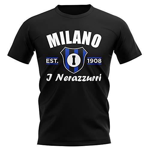 Inter Milan Football Shirts - UKSoccershop Inter Milan Established Football T-Shirt (Black)