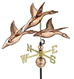 Good Directions 28'' 3 Geese in Flight Weathervane, Pure Copper