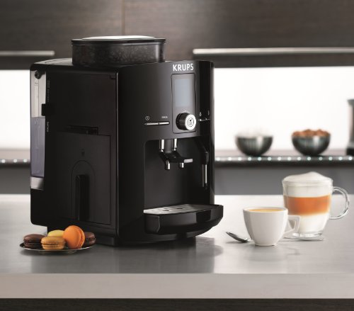 KRUPS EA8250 Espresseria Fully Automatic Espresso Machine Coffee Maker with Built-in Conical Burr Grinder, 60-Ounce, Black