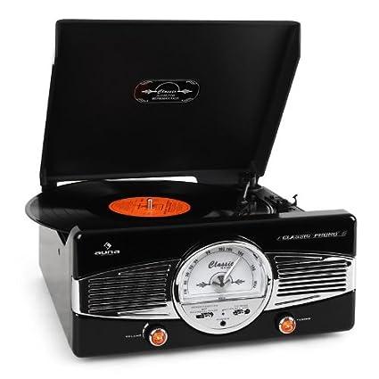 auna MG TT B • estéreo • tocadiscos • accionamiento por correa
