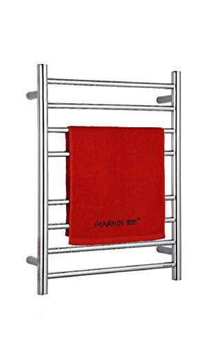 Wall Mounted Electric Towel Warmer (Sharndy Electric Towel Warmers Wall mounted Hot Towel Warmer for Bathroom Polish Chrome)