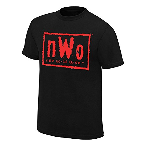 WWE NWO Wolfpac Black & Red T-Shirt 5XL by WWE Authentic Wear