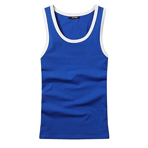 XUDIAN Men Tank Top Stretchy Athletic Sleeveless Shirt Crew-Neck
