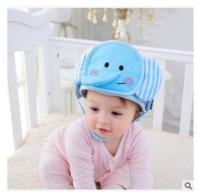 Cuffia Protezione di testa di bambino, Cuscino traspirante di protezione di testa di sicurezza con delle cinghie regolabili, cappelli cappello di protezione per dei bambini in basso età imparano a camminare (l' elefante) Isuper