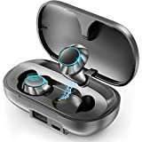 PeohZarr Wireless Earbuds Bluetooth Earbuds with 2600mAh Charging Case Wireless Earbuds Bluetooth 5.0 IPX8 Waterproof Auto Pairing Deep Bass Stereo Sound Noise Reduction Touch Control Earphones, Black