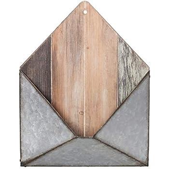 Amazon Com Rustic Galvanized Metal Wall Pocket Wall