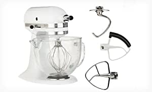 Kitchenaid Deluxe Edition 5 Qt Stand Mixer W Glass Bowl