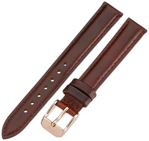 Daniel Wellington Women's St Andrews Brown Leather Buckle Watch Strap with Rose Gold (Wellington Daniel Classy)