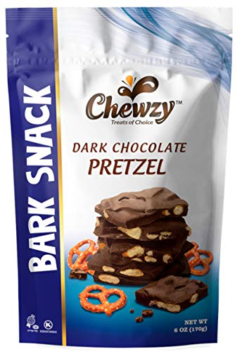Dark Chocolate Pretzel Bark Snack - Kosher - 6 Oz bag - Chewzy