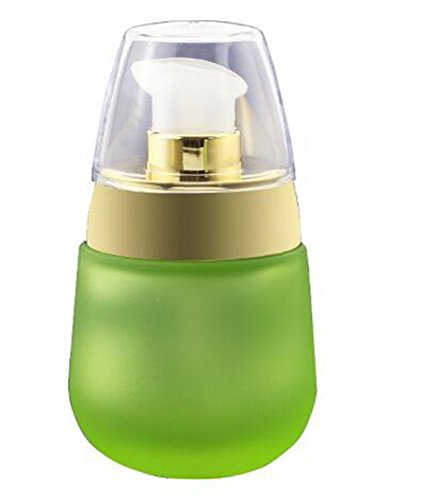 1PCS 30ML 1.02oz Green Glass Empty Cosmetic Face Cream Lotio