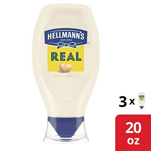 Hellmann's Mayonnaise For Delicious Sandwiches Real Rich In Omega 3-Ala, 20 Ounce, Pack of 3