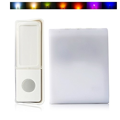 7 Color Flash Music Doorbell - Wireless Doorbell,Music Can Be Changed 16 songs 3 modes music for The Deaf/Old men Seldorauk(Pack of 1) (Flash Bell)