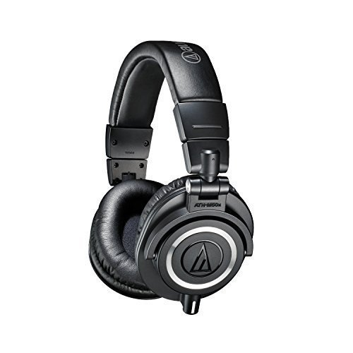 Audio-Technica ATH-M50x Professional Studio Monitor Headphones (Certified Refurbished) by Audio - Technica