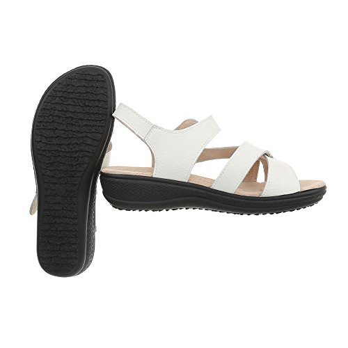 a Chaussures Plat Sandales Lbs6298 Laniere Sandales Ital Femme Blanc Design wYqxIt15ng