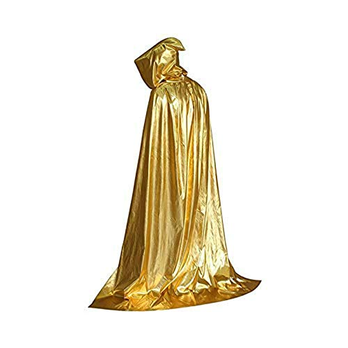 Kaever Party DIY Decorations - Unisex Hooded Cloak Role Cape Play Hood and Costumes - Decorations Party Party Decorations Halloween Victorian Sweet Travel Indian Wolves Blue Order Ghost (Gold) -