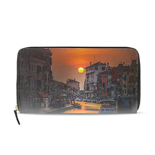 (Women's New Design Italian Sunset Purse Clutch Bag Card Holder New Fashion)