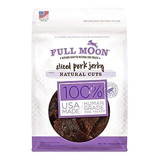 Full Moon All Natural Human Grade Dog Treats, Natural Cut Jerky, Sliced Pork , 10 Ounce