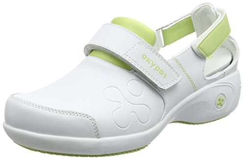 Oxypas Move Up Salma Slip-resistant, Antistatic Nursing Shoes, White/Grey (Light Grey), 5 UK (38 EU)