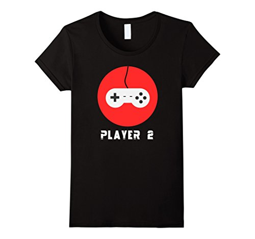 Womens Video Game Matching Halloween Costumes T-shirt Player 2 Large Black