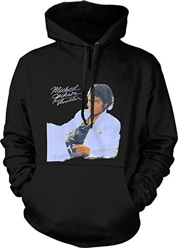 Michael Jackson Thriller Hoodie 80'S Pop Music Graphic Sweatshirt Black]()