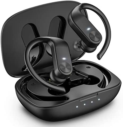Bcway True Wireless Earbuds, Bluetooth 5.0 Headphones in Ear with Type-C Charging Case, Stereo Headset with Noise Cancellation Mic, 40 Hrs Playtime, IPX7 Waterproof, Touch Control Sport Earphones