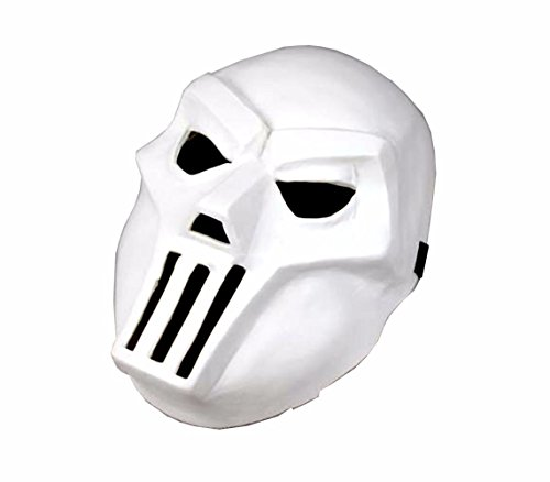 Oem Men's Tmnt Casey Jones Hockey Mask Teenage Mutant Ninja Turtles One Size White -