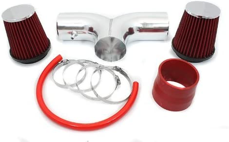 Short Ram Air Intake Kit RED Filter for 02-07 Dodge Ram 1500 3.7L V6 4.7L V8