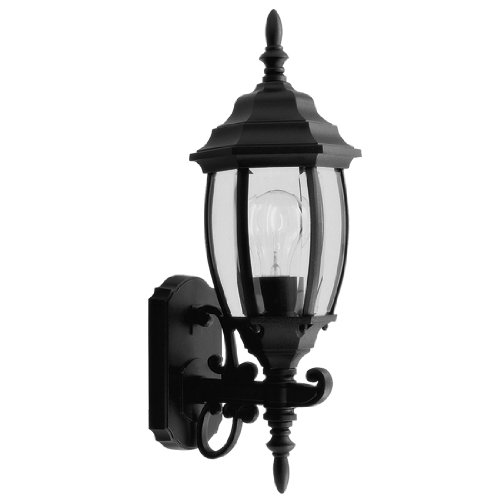 Sconce Livex Lighting Modern (Livex Lighting 7532-04 Outdoor Wall Lantern with Clear Beveled Glass Shades, Black)