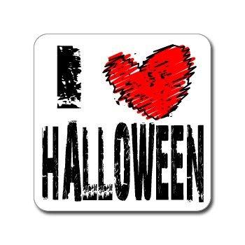 I Love Heart HALLOWEEN - Day Holiday - Window Bumper Laptop Sticker (Classroom Halloween Games)