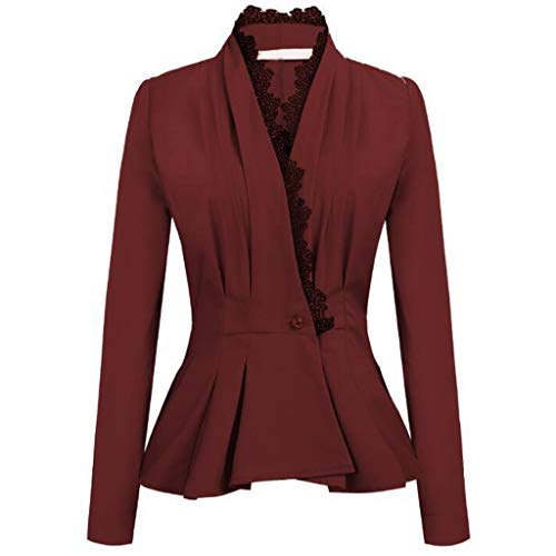 TnaIolr Fashion Women OL Style Three Quarter Sleeve Blazer Elegant Slim Suit ()