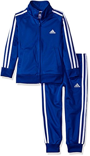 adidas Toddler Boys' Tricot Jacket and Pant Set, Collegiate Royal, 3T