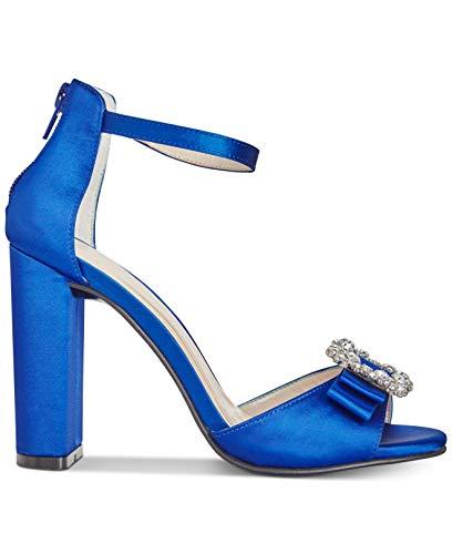 Caparros Womens Pasha Open Toe Ankle Strap D-Orsay Pumps, Royal Satin, Size 7.0