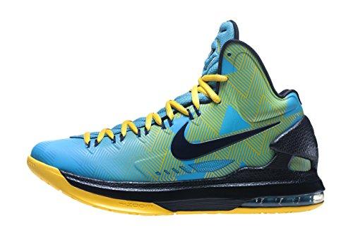 Nike Menns Kd Vi N7 Basketball Sko 13 M Oss Turkis Blå Gul