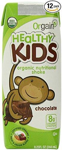 Orgain Organic社 オーガニック(有機栽培) 海外直送品並行輸入品 (12本(224ml×12), 子供用オーガニック栄養シェイク チョコレート味  Kids Organic Nutritional Shake Chocolate) B016XYCX2O 12本(224ml×12)|子供用オーガニック栄養シェイク チョコレート味  Kids Organic Nutritional Shake Chocolate 子供用オーガニック栄養シェイク チョコレート味  Kids Organic Nutritional Shake Chocolate 12本(224ml×12)
