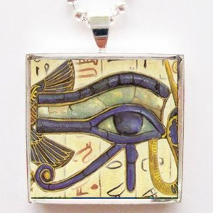 Amazon egyptian eye of ra third eye of illumination glass tile egyptian eye of ra third eye of illumination glass tile pendant necklace aloadofball Images