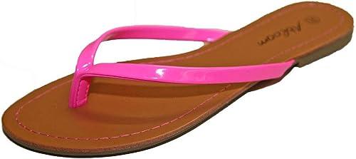 Tongs Sandales Claquettes Pieds Nus Femme Simili Cuir Vacances Plage Fashion !