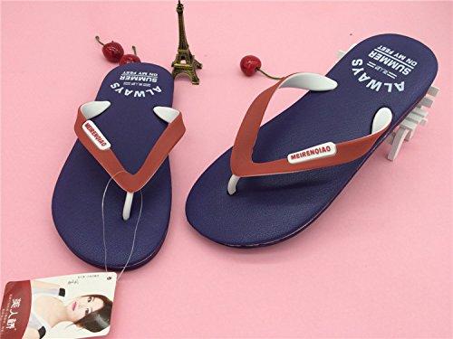 verano moda CWJDTXD Sandalias de ligero 40 antideslizante Zapatillas Zapatillas arrastre negro azul pellizco hombres zapatillas hombre y de espuma xwx4Etq