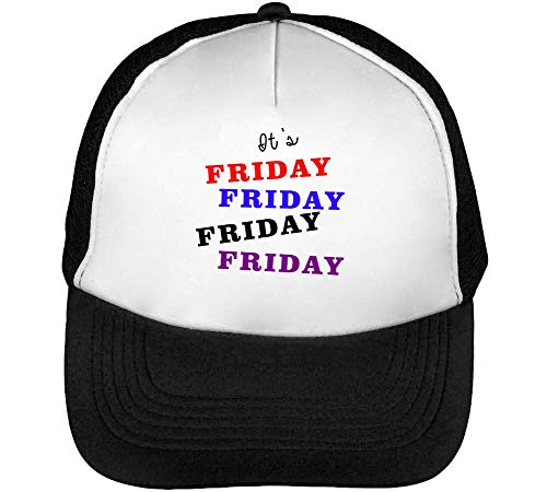Negro Slogan Friday Gorras Colourful Hombre Beisbol Snapback Blanco It'S xfzFZpw0q
