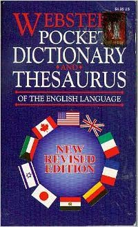 pocket english dictionary and thesaurus