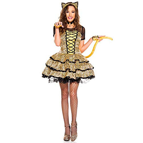 LVLUOYE Role Playing, Halloween Little Cheetah Plays Uniform, Cosplay Leopard Cat Costume, Party -