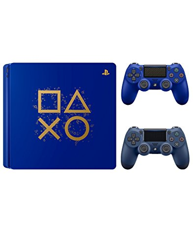 PlayStation 4 Days of Play Limited Edition 1TB Console with Extra Midnight Blue Dualshock 4 Wireless Controller Bundle