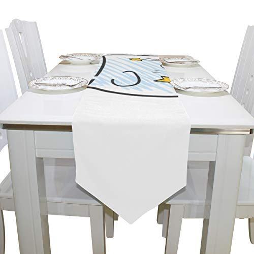 Gednix Table Linens Firefly Insect Flying Light Modern Table Runner Traditional Table Cloths for Kitchen Dining Room Decoration Office Table Covers Table Overlays 13x90 Inch -