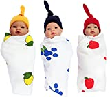 9 Piece Newborn Baby Muslin Swaddle Blanket Wrap Set With Accessories - Luxury Baby Gift Set With 3pk Organic Blankets And Beanie Hats For Infants - Stroller Clip And Pacifier - Hypoallergenic - Cute Style